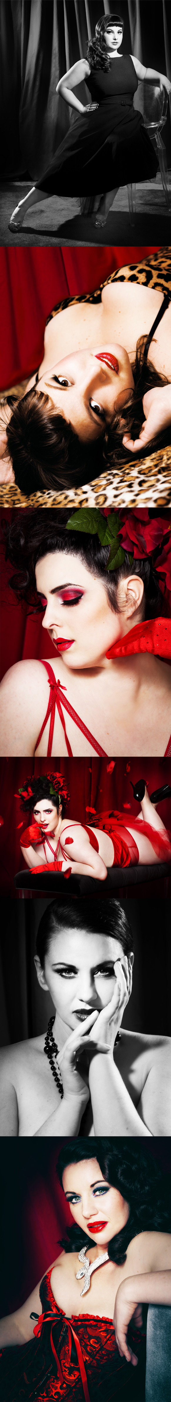 Burlesque, Montreal, Red Room, Leopard Print, Pin-Up, Film Noir
